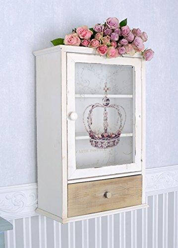 Wandregal Shabby Chic Wandschrank Krone Hängeschrank Vitrine Vintage Palazzo Exclusiv