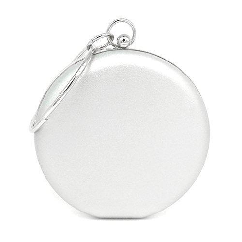 Sample9 Damenmode Handtasche Mini Runde Clutch Abendtasche Geldbörse Hochzeit Party Taschen Silber