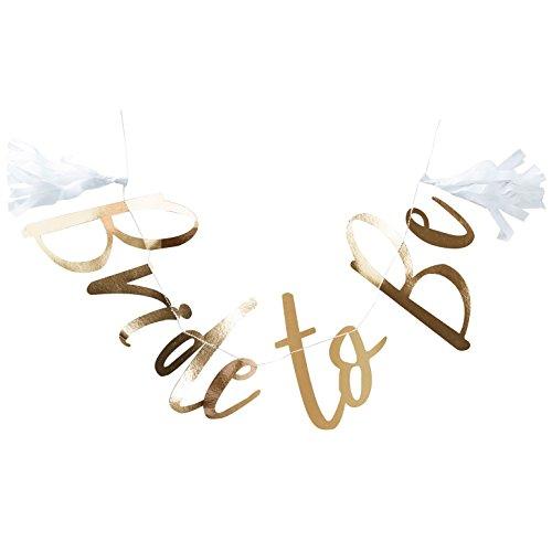 Girlande Bride to be in Gold / Junggesellinnen-Abschied / Hen-Party / JGA / Hochzeit / Hochzeits-Dekoration / Deko-Banner - Länge 1,5 Meter