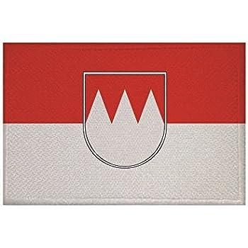 Aufnäher Deutschland-Österreich Fahne Flagge Aufbügler Patch 9 x 6 cm