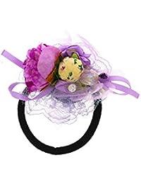 Anuradha Art Violet Colour Designer Stylish Hair Accessories Hair Band Stylish Rubber Band For Women/Girls