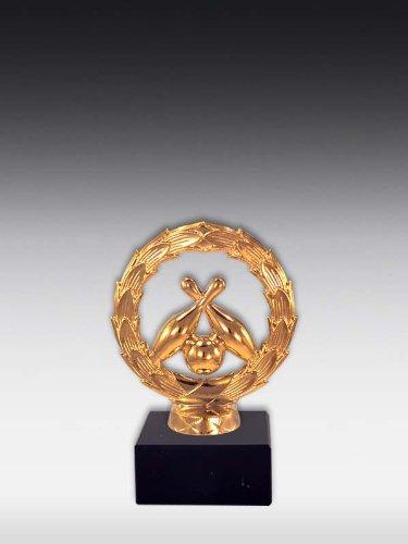 Figur Kegel mit Kranz Glanz-Gold, ink. Wunschgravur