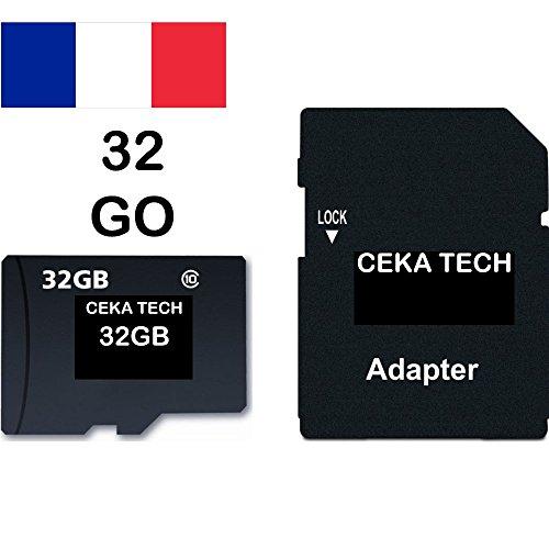 Tarjeta de Memoria Samsung Galaxy J3 2016, CEKA TECH® Micro-SD 32GB Clase 10 con Adaptador SD