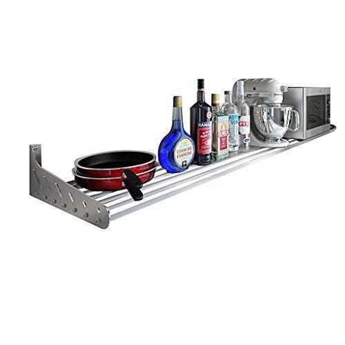 JJJJD Küche liefert Wandregal aus rostfreiem Stahl (größe : 100cm) - Aus Rostfreiem Stahl Küche Schrank