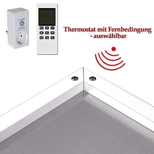 Infrarot Heizung 300 450 580 700 900 1100 Watt mit Thermostat Weiß Carbon Crystal Bild 4*