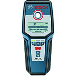 Bosch Professional Digital Detector GMS 120 (1 x 9 V block battery, protective case, max. detection depth in steel/copper/live cables: 120/80/50 mm)
