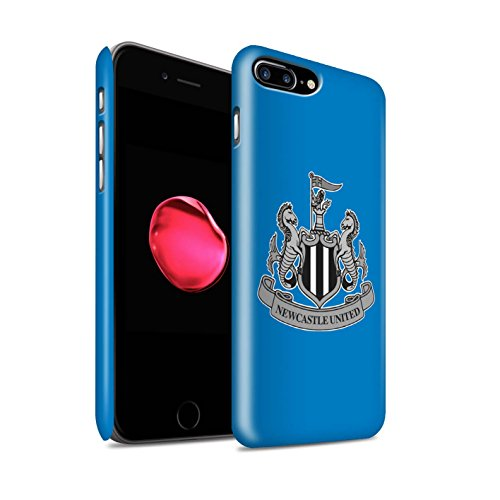 Officiel Newcastle United FC Coque / Clipser Matte Etui pour Apple iPhone 7 Plus / Couleur/Or Design / NUFC Crête Football Collection Mono/Bleu
