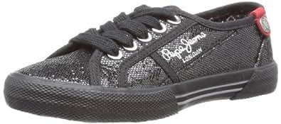Pepe Jeans Unisex-Child Baker Black Lace-Up Flats PFS30723 13 Child UK, 32 EU