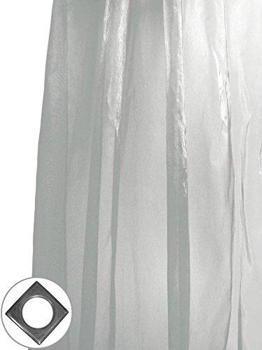 Soleil d'ocre tenda in voile con occhielli 140 x 250 cm irise argent, riflessi bicolore