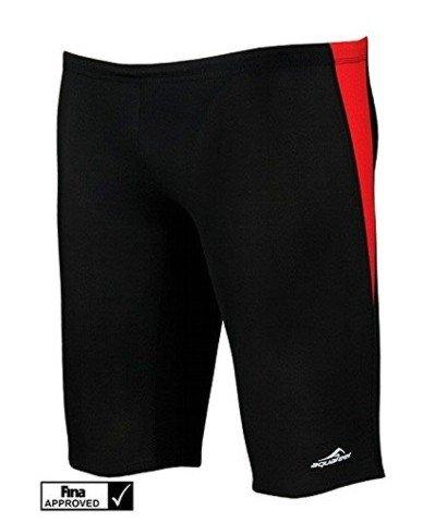 Aquafeel Gr. 152 rot schwarz Jungen Badehose Fashy Schwimmhose FINA