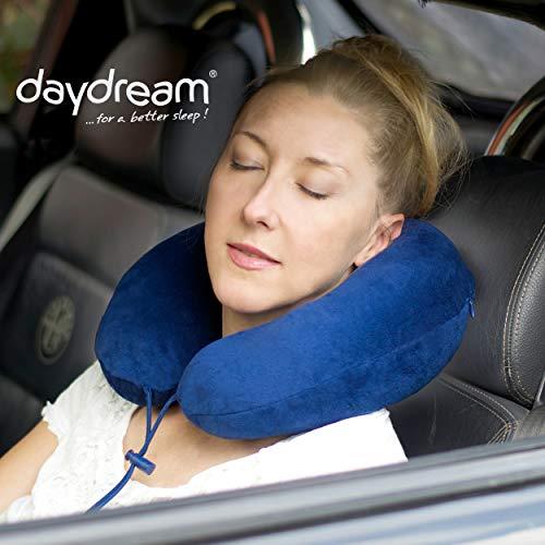 daydream PREMIUM-Reise-Nackenkissen mit Memory Foam, verschiedene Farben (N-5400),Nackenhörnchen, Reisekissen, Nackenstützkissen (Schaumstoff Einsätze Für Sofas)