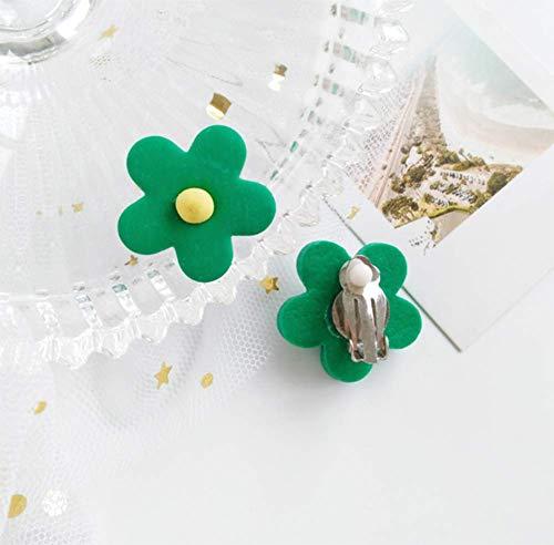ERHUAN Ohrringe aus Kunststoff Hand Ohrringe Anti-Allergie-Ohrring forMädchen/Frau,Green