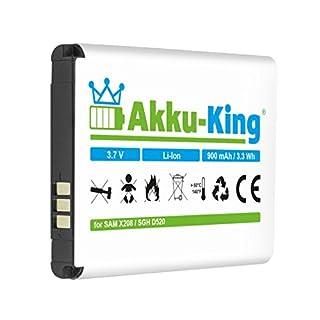 Akku-King Battery for Samsung SGH-D520 C520 C3750 D520 D720 E420 E500 E900 E1080W E1190 M150 - replaces BST3108BE, AB463446BU, AB043446BE, AB043446LE - Li-Ion 900mAh