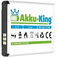 Akku-King batería para Samsung SGH-D520 C520 C3750 D520 D720 E420 E500 E900 E1080W E1190 M150 - como BST3108BE, AB463446BU, AB043446BE, AB043446LE - Li-Ion 900mAh