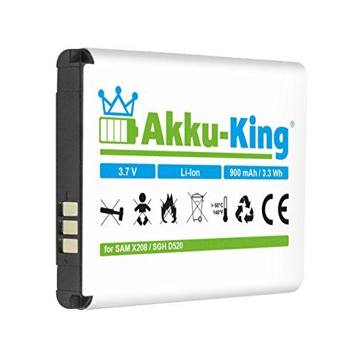 Akku-King Akku ersetzt Samsung BST3108BE, AB463446BU - Li-Ion 900mAh - für Samsung SGH-D520 / X208, X200, C520, C3750, C3595, D520, D720, E250, E420