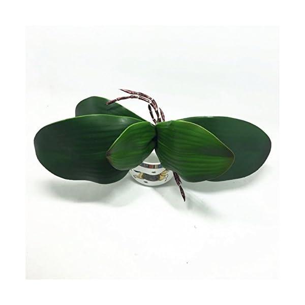 Mariposa orquídea hojas, simulación DIY artificial verde mariposa orquídea flores decoración del hogar, As Picture Show…