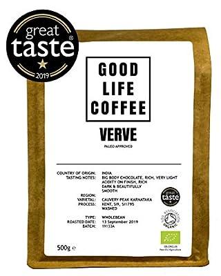 Good Life Verve Paleo Coffee Single Origin Specialty Arabica Bulletproof Coffee Fresh Roasted to Order Great Taste Winner from GOOD LIFE COFFEE