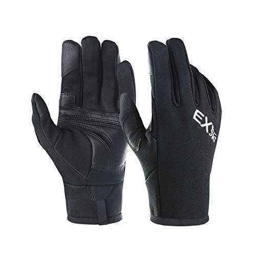 EXski Winter Touchscreen Handschuhe Herren Laufhandschuhe Warm Moped Outdoor Motorrad Sport Fahrrad Mountainbike Leicht