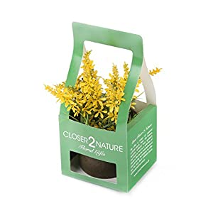 Closer To Nature FP005YC – Campanilla artificial en caja de regalo, 18 cm, color amarillo