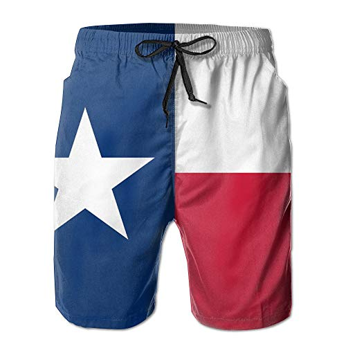 Desing shop Flag of Texas State Men's Quick Dry Beach Board Shorts Summer Swim Trunks for Father's Day for Boy Swimming Medium (Izod-uniformen)