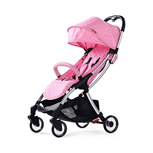 CHEERALL Umbrella Kinderwagen Leichter Klappkinderwagen mit Verstellbarer Rückenlehne, Vierrad-Dämpfung, Vier Jahreszeiten für Kinder von der Geburt bis zum Alter von 3 Jahren,Pink