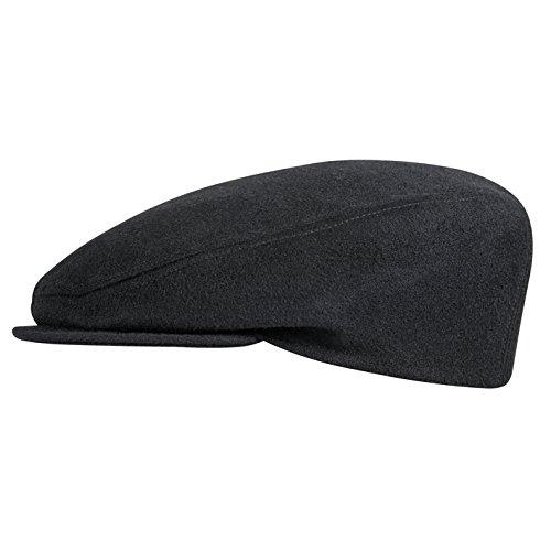 Flatcap in mehreren Farben 42019 by Fiebig (58, schwarz) (Den Hut In)