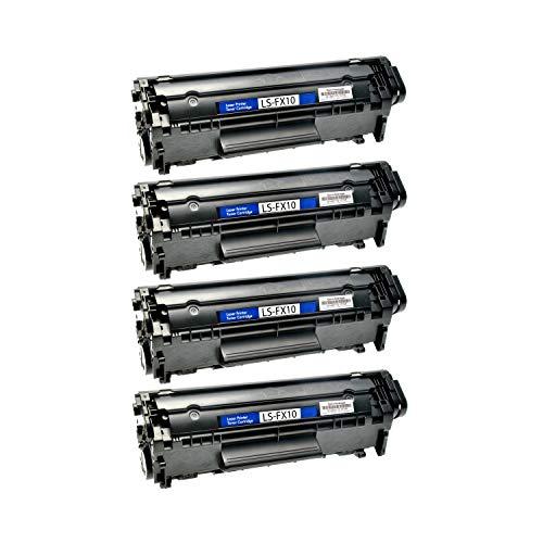 4 Toner kompatibel für Canon FX10 Fax Faxphone L 100 120 I-Sensys FAX L I-Sensys MF 4000 4100 4300 4600 Series PC-D 440 450-0263B002 - Schwarz je 4.000 Seiten -