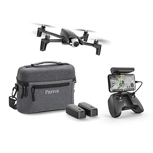 Parrot Anafi Extended - Paquete de Drone con 2 baterías adicionales, Bolsa de Transporte y hélices (cámara HDR 4K, Gimbal Giratorio de 180°) Color Negro