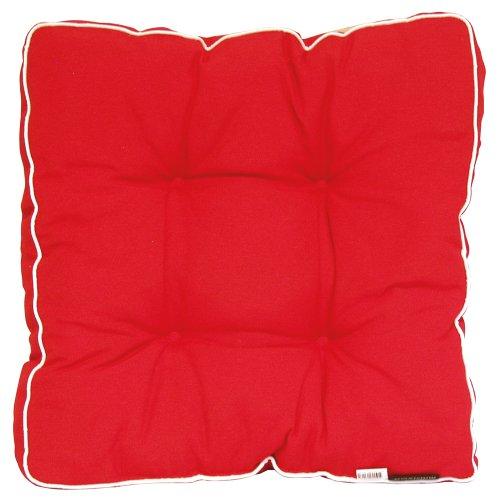 Madison 7FLORB220 Auflage Panama für Florence, 75% Baumwolle 25% Polyester, 47 x 47 cm, rot