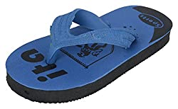 R V Footwear Kids Blue Rubber House Slippers - 9 UK