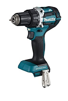 Makita DDF484Z - Taladro (Taladro de pistola, perforacion, Desatornillar, Negro, Azul, 3,8 cm, 1,3 cm, 54 Nm)