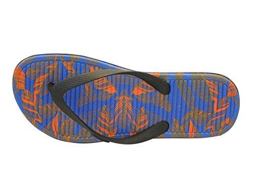 Nike Herren Solarsoft Thong 2 Print Flip-Flops, Black (Schwarz / Hell Hochrot-Rcr Blau), 44 EU