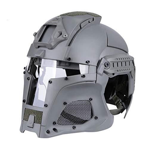 Medieval Iron Warrior Helmet - Tactical Outdoor Vintage Helmet - Nero/Argilla/Verde/Grigio