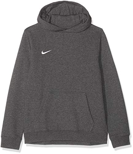 Hoodie Sweatshirt Hose (Nike Unisex-Erwachsene Y HOODIE PO FLC TM CLUB19 Sweatshirt, Grau (Charcoal Heathr/White/071), Gr. L)