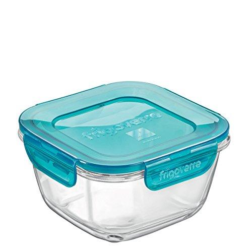 Contenitore per alimenti in vetro TEMPERATO conservare frigorifero freezer Bormioli Frigoverre Evolution 14x14cm 75cl
