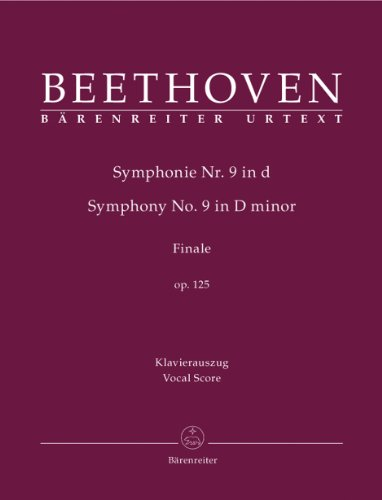 Symphonie Nr. 9 d-Moll op. 125 (Finale). Klavierauszug, Urtextausgabe
