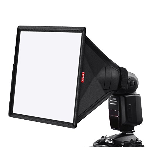 "TYCKA 13 x 8"" Difusor de Flash Softbox (universal, plegable) para Nikon, Canon, Sony, yongnuo y otros flashes DSLR"