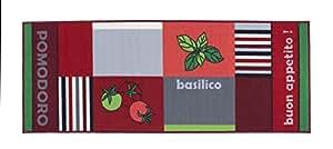 Küchenläufer Buongusto, rutschfest & waschbar, schadstoffgeprüfter Küchenteppich in div. Motiven, Farbe:Tomate, Größe:57x120cm