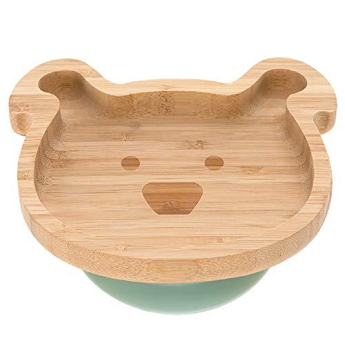 Lässig Little Chums Dog - Plato de aperitivos infantil (bambú, con ventosa,...