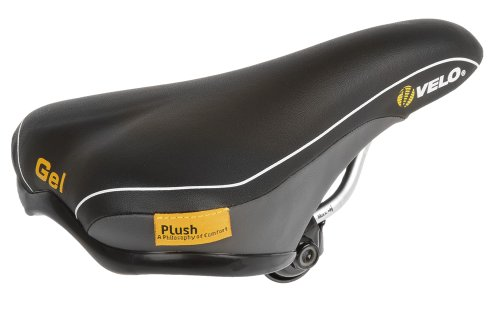 Velo Sattel Plush Junior Gel, black, 226 x 150 mm