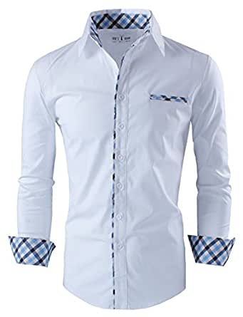 Tom's Ware Chemise habillee Layered interieure-Hommes TWNMS310S-1-WHITE-S