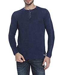 Jack & Jones Mens Casual Sweater (_5713444739195_Dark Blue Denim_Small)