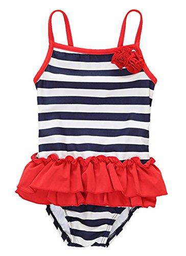 CharmLeaks Baby One Piece Badeanzug Mit Streifen Bademode für Kleinkinder 92 / 18-24 Monate (Mädchen Badeanzug Größe 24)