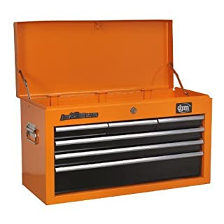 DJM American Pro 6 Drawer Orange Top Chest Tool Box
