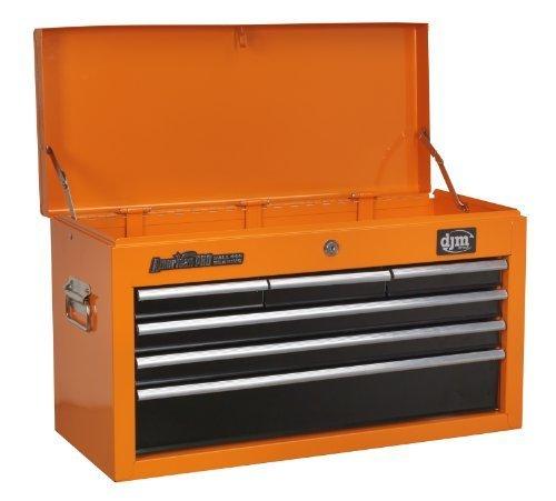 Orange-tool-box (DJM American Pro 6 Drawer Orange Top Chest Tool Box by DJM Direct)