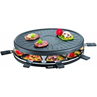 Severin 2681 Raclette Grill 1100W Thermostat 8 Parts Noir