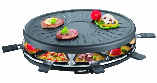 Severin RG 2681 Raclette-Partygrill (1100 Watt, 8 Pfännchen) schwarz