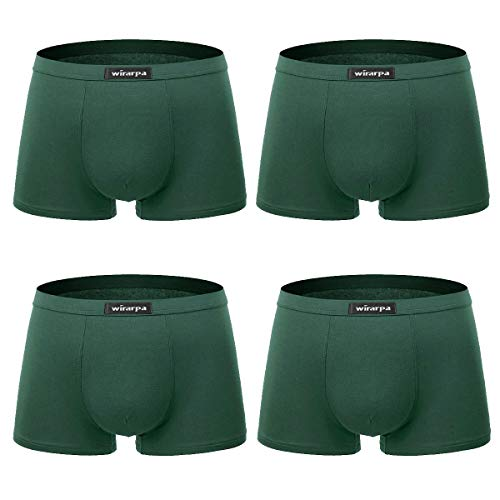 05141ea464e5 wirarpa Calzoncillos Bóxers Hombre Microfibra Ropa Interior Underwear  Trunks Talla S-XXL (Verde Oscuro-Pack de 4, XXX-Large (60))
