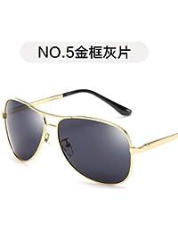 Burenqiq Gafas de Sol de Moda Tendencia Rana Espejo Hombres Gafas de Sol de la Pierna Gafas de Sol polarizadas Aviador, Pieza…