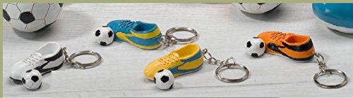 10pz bomboniera portachiavi scarpa da calcio comunione cresima compleanno bimbo